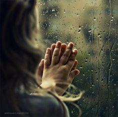 ...touching the rain...