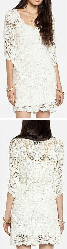 Crochet Boho Lace Dress ♥