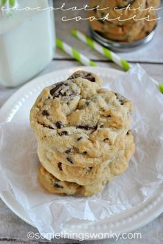 My Favorite Chocolate Chip Cookie Recipe! www.somethingswanky.com