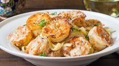 Crispy Cajun Shrimp Fettuccine Sub GF pasta  purpose GF flour.  YUMMY!