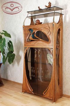 Jury Moshans' furniture art - Cabinet modern art nouveau. Too cool!!! qb