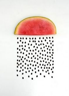 water melon / food design, design culinaire food designer, graphic, foods, seed, watermelon art, watermelon rain, sarah illenberg, food art, design culinaire