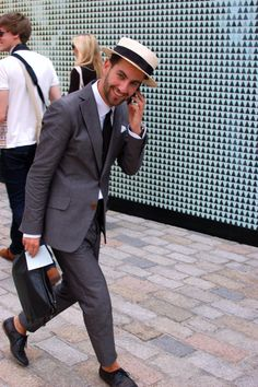 Boater Hat #fashion #style #menswear #suit
