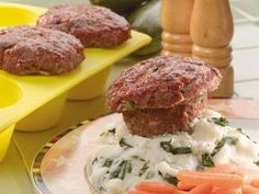 Muffin Tin Meat Loaves - Easy to serve and quick to cook, muffin tin meat loaves are one of our favorite weeknight dinner recipes when we've got to get in and out in a snap.