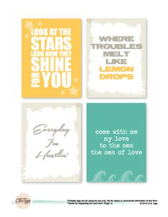 """Freebie Friday with Albert on the Chic Tags blog! 3x4"""" cards perfect for Project Life!"""