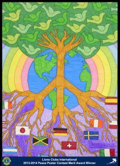 Merit Award Winner, Claire Maurus, from Minnesota, USA (Sauk Rapids Riverside Lions Club) - 2013-2014 Lions Clubs International Peace Poster Contest
