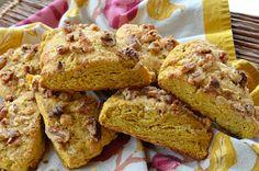 Pumpkin-Walnut Scones make the perfect #Thanksgiving breakfast! via @Three Many Cooks