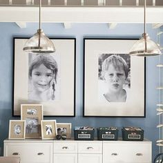 Like these black and whites and frames