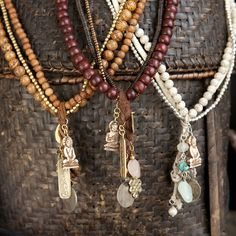 Jewellery with good luck symbols from Nepal.