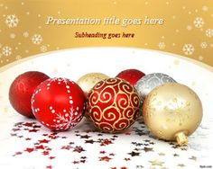 Download free Christmas Balls PowerPoint template and background for Microsoft PowerPoint including awesome designs of Christmas ball pictures in the slide #Christmas #PowerPoint #templates