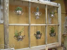 what a great way to display old containers