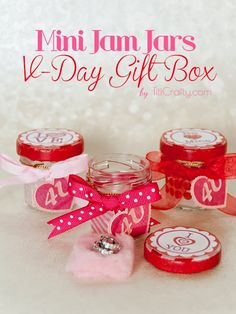 Mini Jam Jars Valentine's Day Gift Box DIY Tutorial