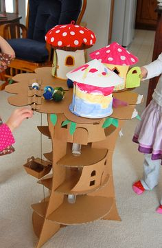 fairy land with cardboard!
