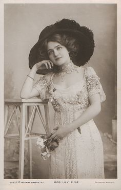 Lily Elsie 1909 by Art & Vintage, via Flickr