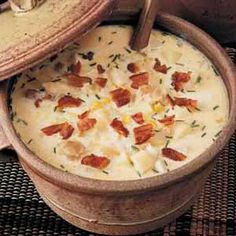 Country Fish Chowder You'll think you're on Cape Cod when you taste this thick wholesome chowder made from a recipe I've treasured for many years.