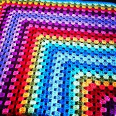Beautiful #crochet blanket made by ricepuddingbaby