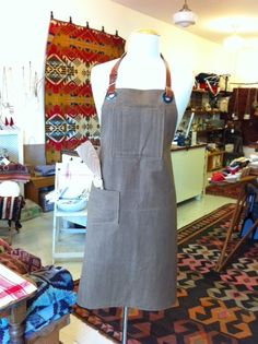 Waxed canvas shop apron from our friends down the road, Union Wood Co. $110.