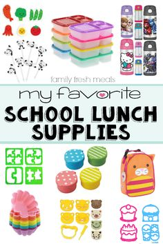 My Favorite Back to School Lunch Supplies - These help lunch making a BREEZE! FamilyFreshMeals.com