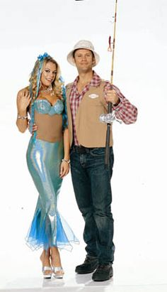 Mermaid and Fisherman costumes by Shirley of Hollywood