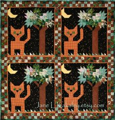 Quilt Pattern  Did You Put the Cat Out by JaneLKakaley on Etsy, $10.50