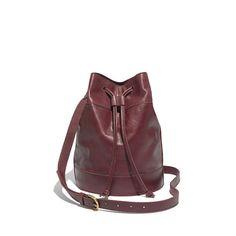 Madewell - The Large Drawstring Bucket Bag handbag, fashion, buckets, style, drawstr bucket, accessor, larg drawstr, bags, bucket bag