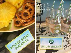 skylanders birthday party food menu