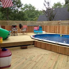 Our new pool and deck build by my hubby