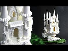 ▶ Sugar Fairytale Castle Cake Topper - Tutorial by Yeners Way - YouTube