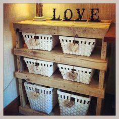 Custom handmade shelf-Recycled rustic reclaimed-Wood Pallet Shelf-beach house, cottage decor on Etsy, $290.88
