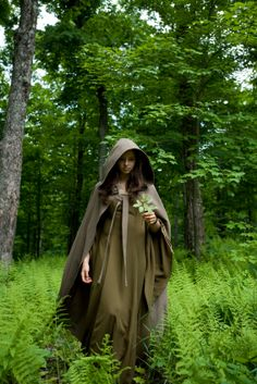 . forests, magic, green witchcraft, capes, forest witch, witches in cloaks, fantasi costum, hood, forest cloaks