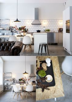 square subway tiles/ kitchen