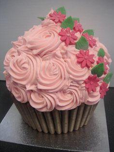Giant Cherry Blossom Cupcake