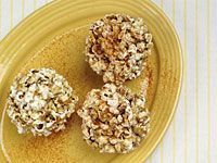 Honey-and-spice popcorn balls
