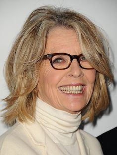 Diane Keaton's Layered Bob with flirty layers keep her style fresh and full of movement.