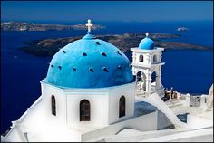 Firostefani Vllage at Greek Island Santorini / Souvik Prometure #travel #photography #greek {greece has been on my to-visit list doesn't this place look lovely?}