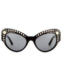#versace - studs embellished sunglasses