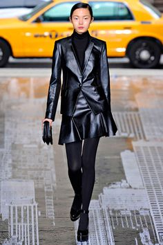 leather suit at DKNY