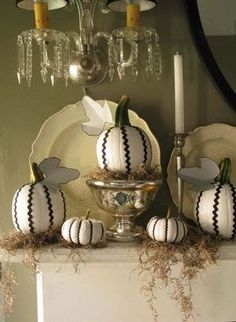 Halloween - pumpkin - C.B.I.D. HOME DECOR and DESIGN: FALL DECOR: THE HUMBLE PUMPKIN GOES GLAM