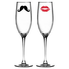 His & Hers Champagne Flute Set - these are cute!- for the boat