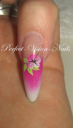 Airbrush Nails with flowers