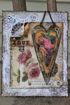 "Marion Smith Designs: ""Love U"" Altered Heart Card by Peggy Lee"