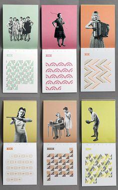 color palettes, vintage illustrations, vintage photos, pattern graphic design, poster designs, bold colors, graphic design patterns, bright colors, calendar