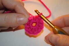 learn how to crochet the magic circle or ring.  video and picture tutorial