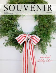 Souvenir Magazine via Trisha Brink Design love the simple wreath