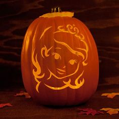 Sofia the First-Inspired Pumpkin Template