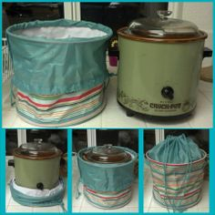 Cinch top bin to keep your crockpot dust free.