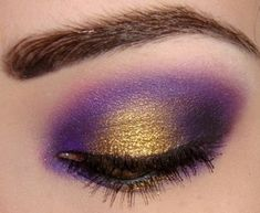 Love love LOVE this purple and gold look