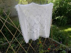 Maple Garland design by Marianne Kinzel. Knitted Square shawl; I have this pattern