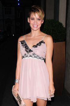Kimberly Wyatt Layered Razor Cut