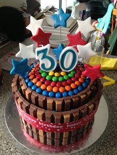 30th Birthday Kit Kat Cake
